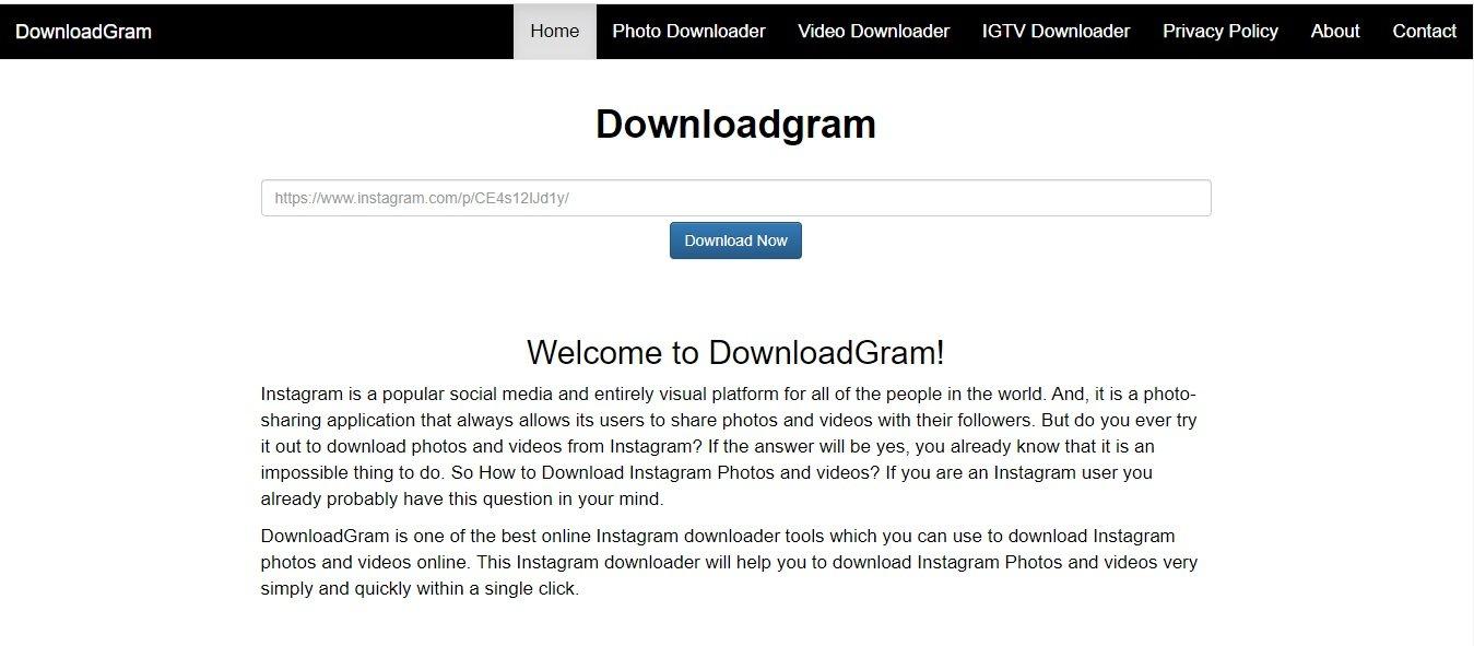 DownloadGram - Instagram Photo Downloader